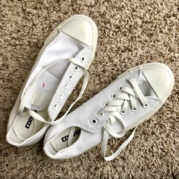 20729a74a5a9 Converse Shoes - Converse All Star Blank White Low Top Shoes